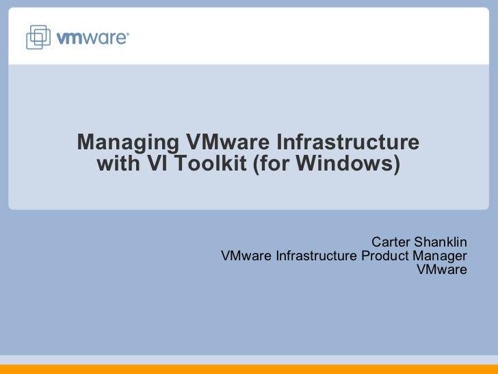 Managing VMware With PowerShell