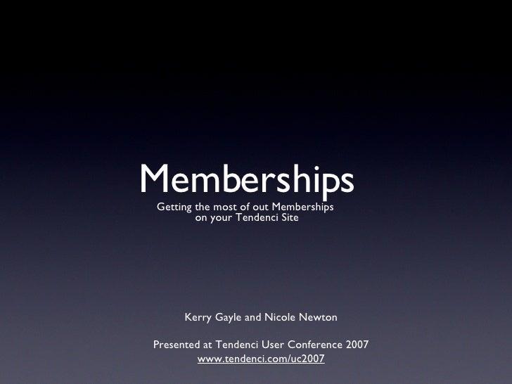 Managing your members using Tendenci