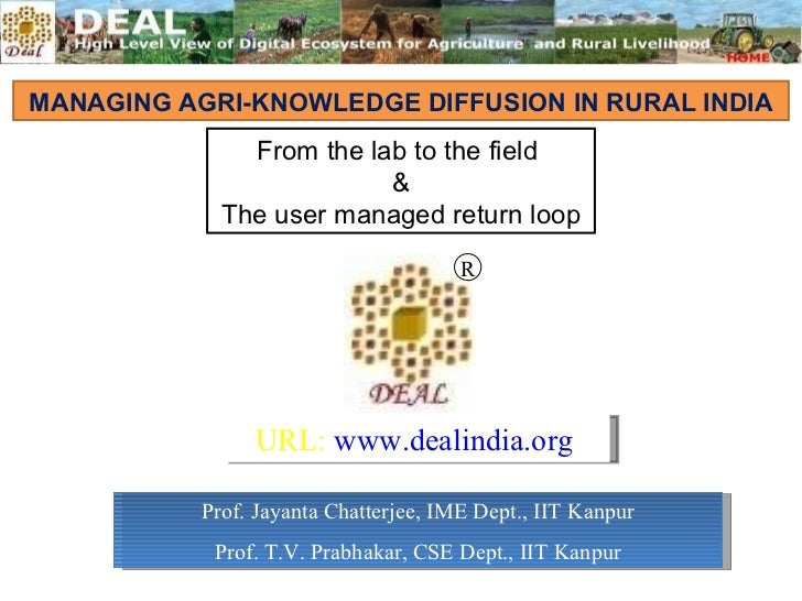 Managing AGRI Knowledge Diffusion in Rural India