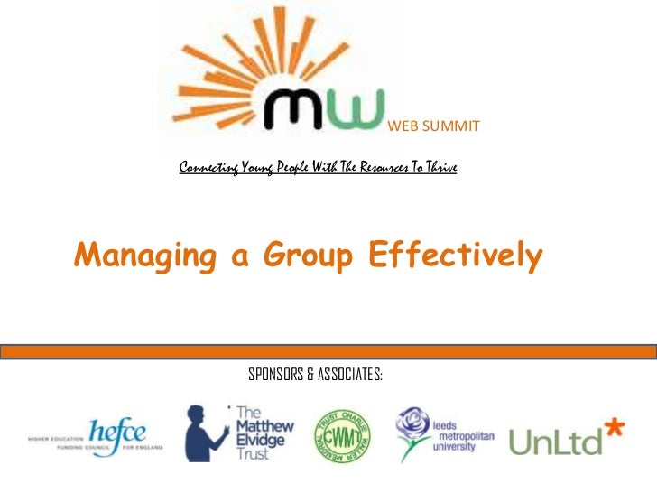 Managing a group effectively