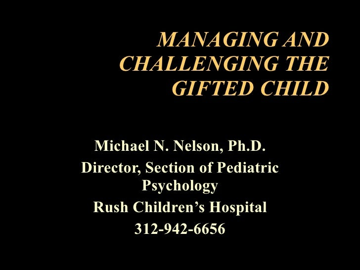 Managing And Challenging The Gifted Child