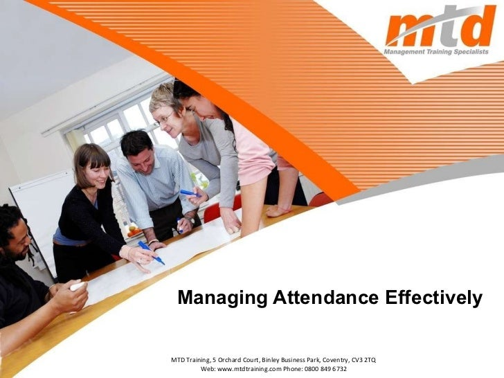 Managing Attendance Effectively