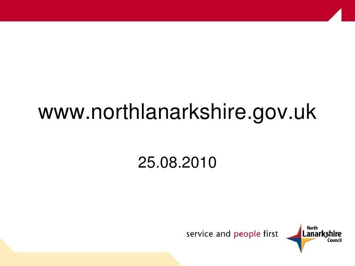 www.northlanarkshire.gov.uk 25.08.2010
