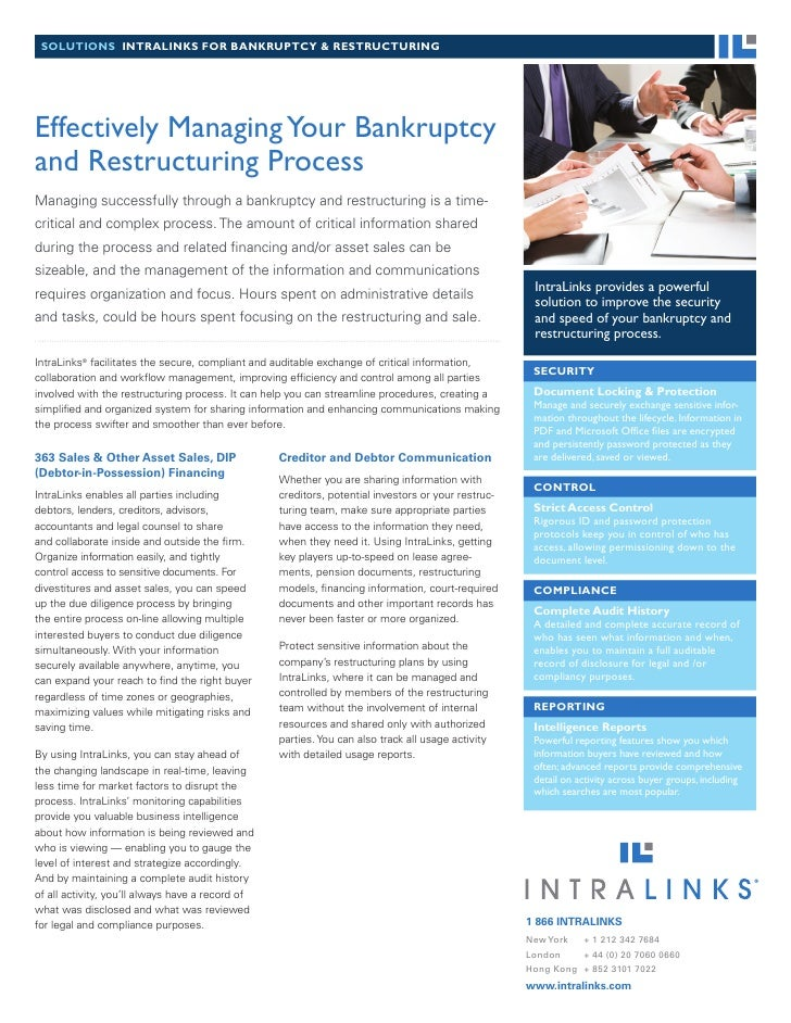 Managing Bankruptcy And Restructuring More Effectively