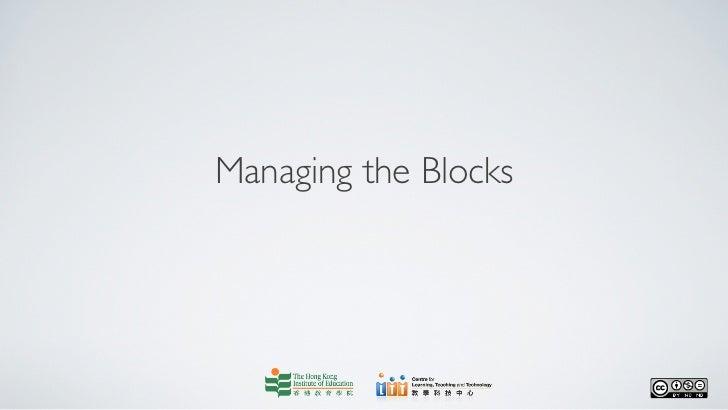 Managing blocks