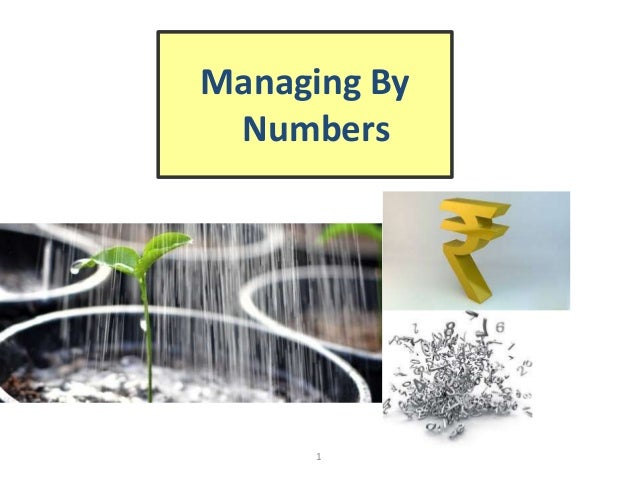 1 Managing By Numbers