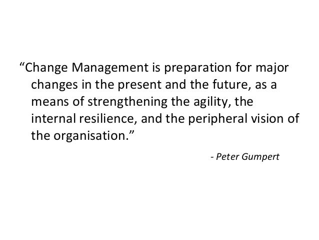 Research thesis change management
