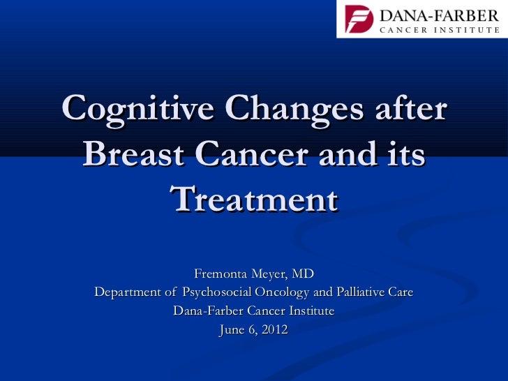 Managing chemobrain