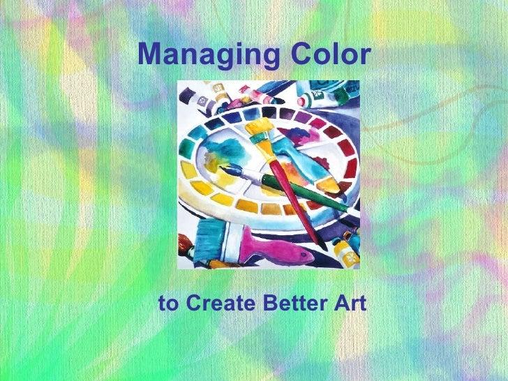 Managing color in design
