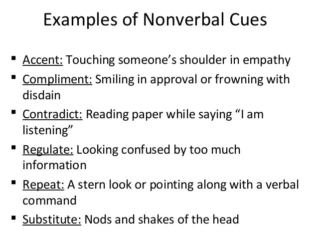 the non verbal cues of lying