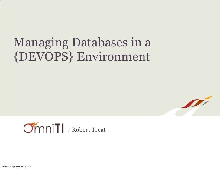 Managing Databases In A DevOps Environment