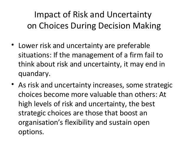 Image result for when uncertain ,ability to take decisions for progress of business