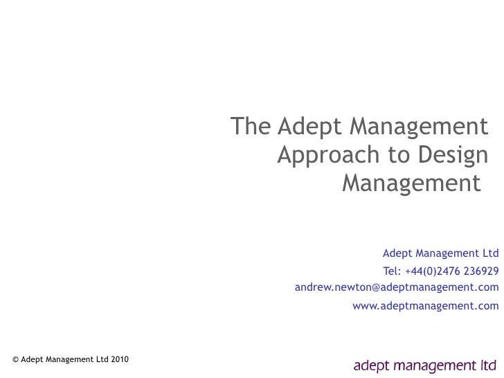 Managing Design   2010