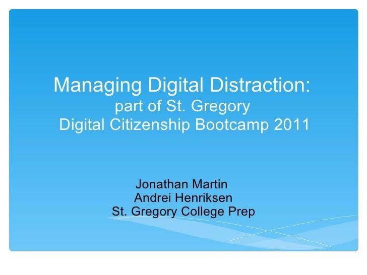 Managing digital distraction v3