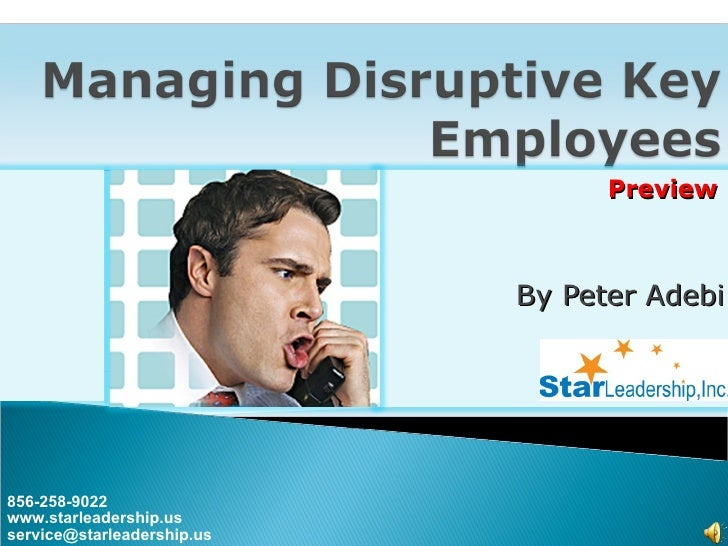 Managing Disruptive Employees Preview