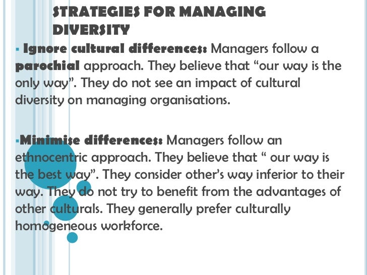 managing sales workforce diversity Managing workplace diversity in an world's increased globalization has called for a need of managing the diversity in workforce comprehensively and in.
