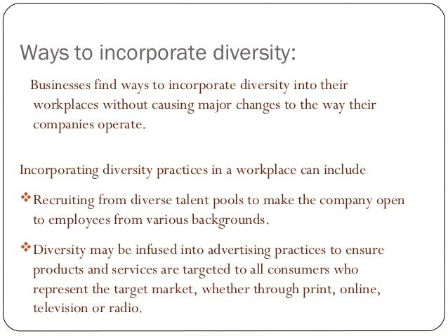 Equality & Diversity in the Workplace