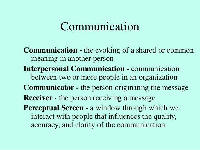 communication information and coordination in organizations Describe the importance of communications and information management organization and support communications: coordination in support of strategic and.