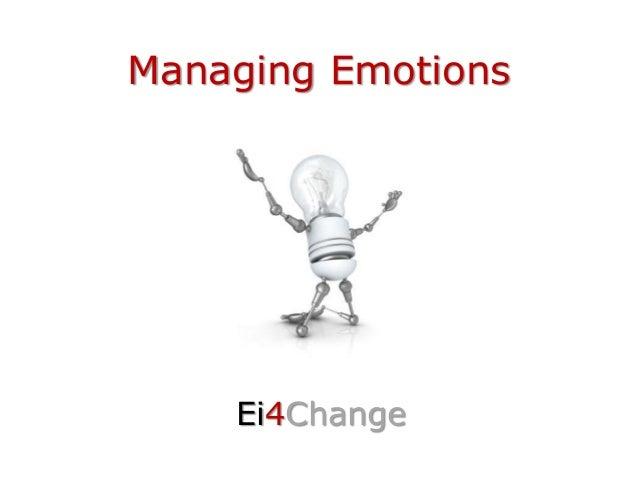 Managing Emotions Ei4Change