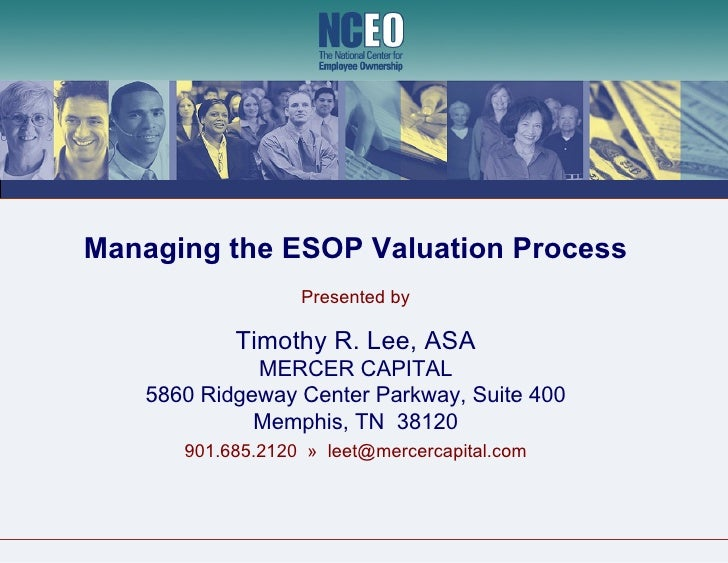 Managing the ESOP Valuation Process :: NCEO Webinar
