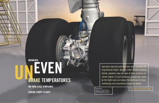 Managing even brake temperatures