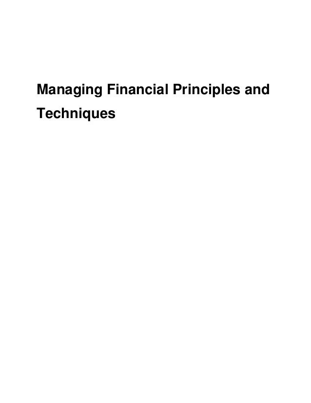 Managing financial principles