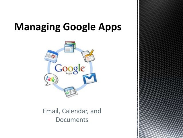 Email, Calendar, and Documents