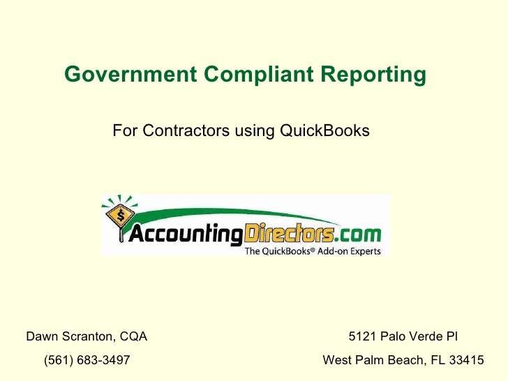 Managing Govt Contracts