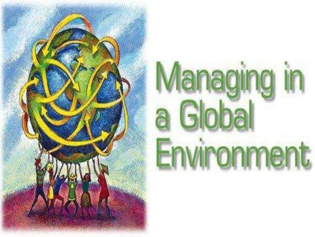 managing global environment The analysis of the global environment of a company is called global environmental analysis this analysis is part of a company's analysis-system, which also comprises various other analyses, like the industry analysis, the market analysis and the analyses of companies, clients and competitors.