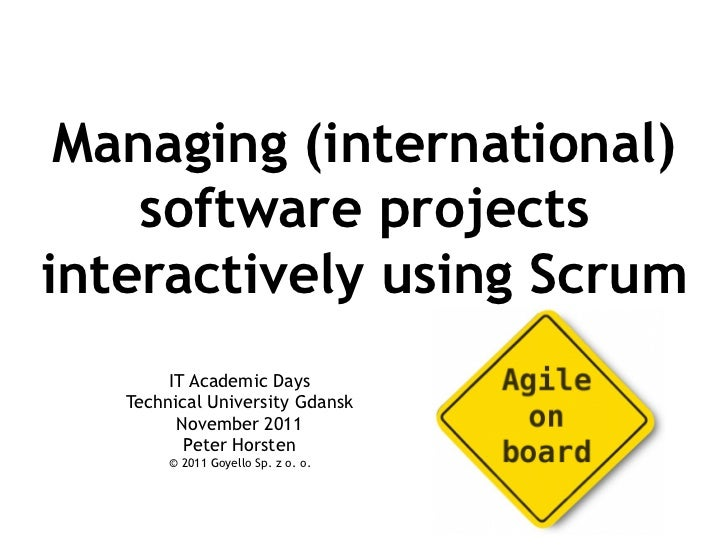 Managing international software projects interactively using scrum