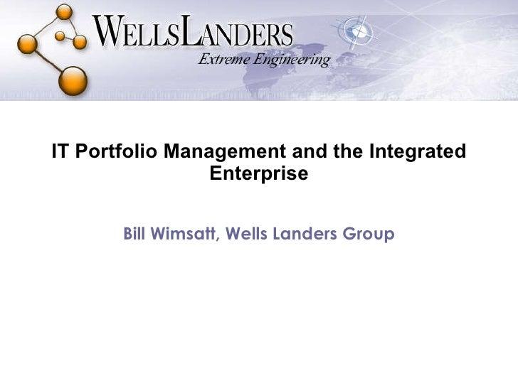 Managing Your IT Portfolio