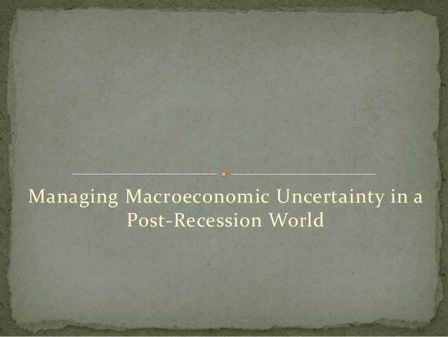 Managing macroeconomic uncertainty in a post recession world
