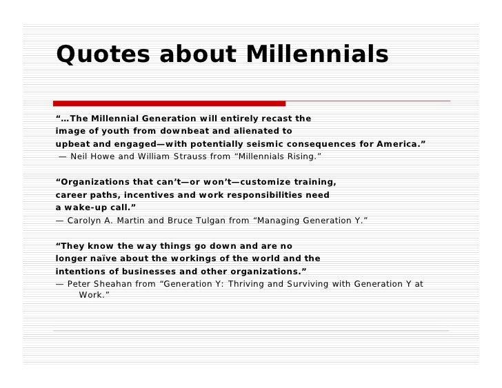Managing Millennial Generation Future Leaders