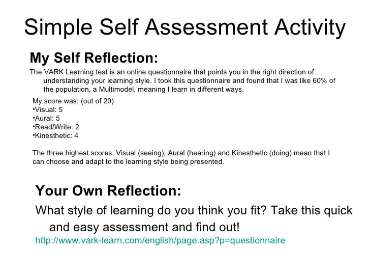 reflective essay study skills