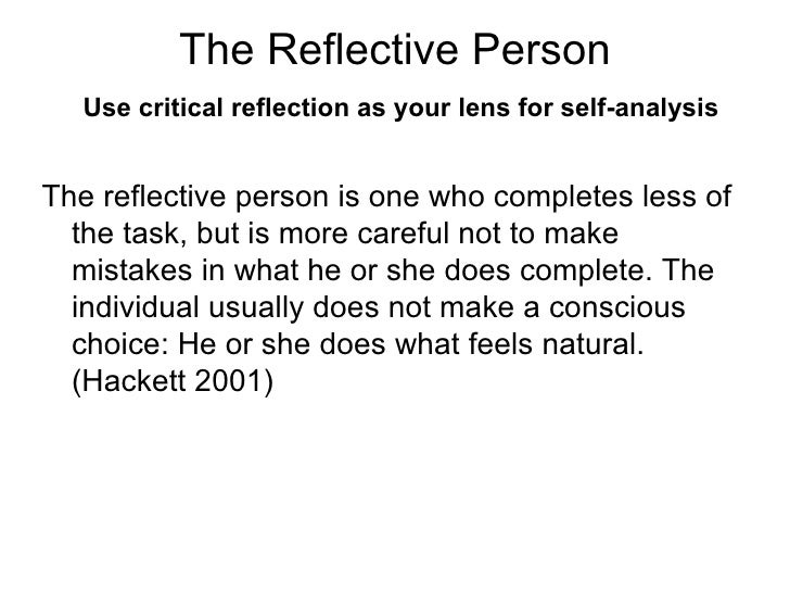 personal reflective essay on a person