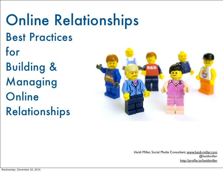 Managing Online Relationships