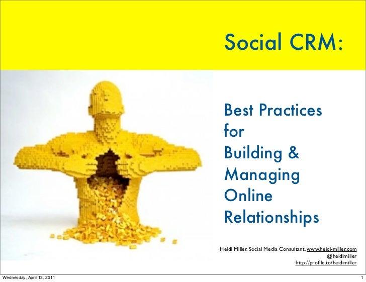 Social CRM:                             Best Practices                             for                             Buildin...