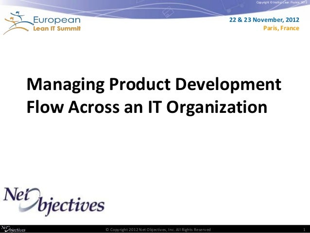 Managing product development flow across an IT organization