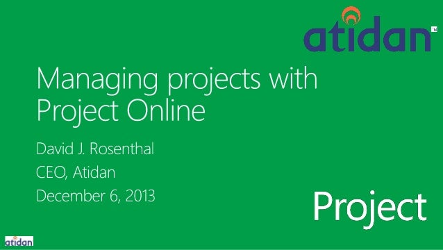 Managing Projects with Microsoft Project Online - from Atidan