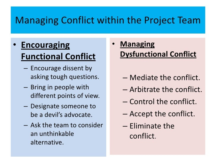 managing conflicts within groups
