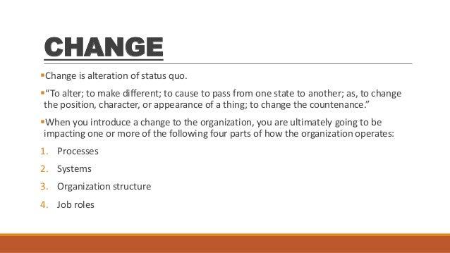 management handling resistance to change essay