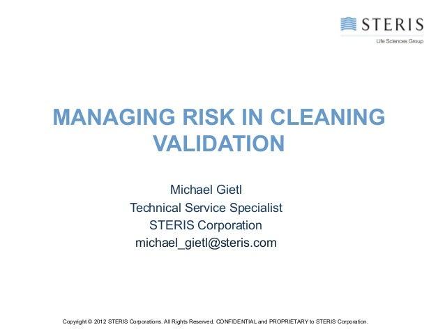 Managing risk in cv