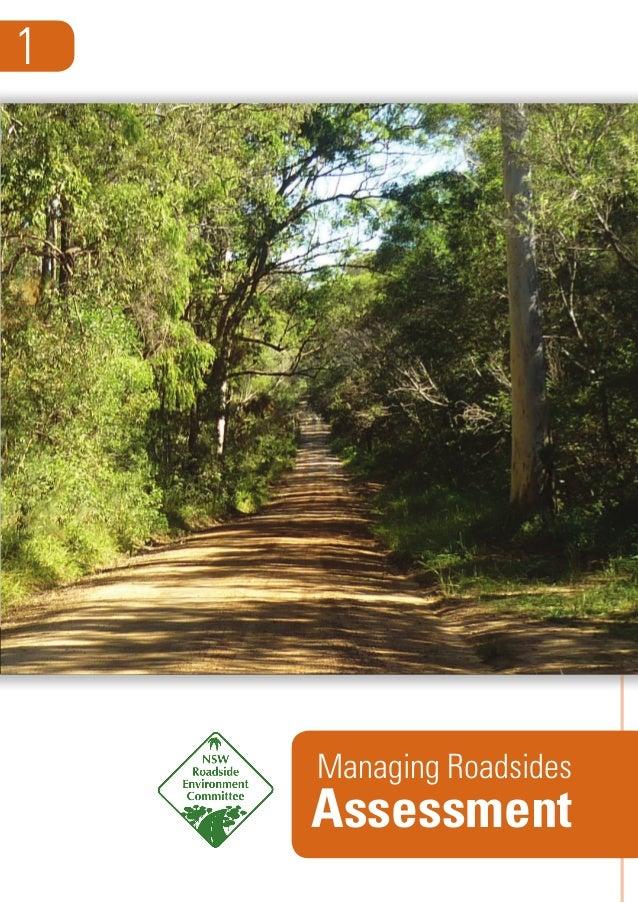 Guide: Managing roadside environments 1 - Assessment