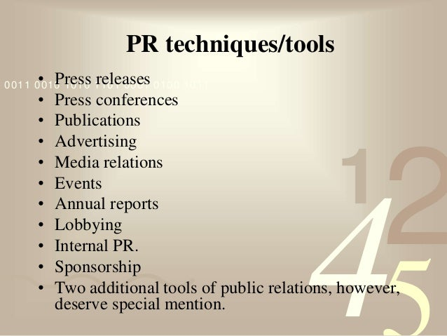 public relations tools and techniques Public relations: contemporary issues and techniques offers a definitive guide to   relations moguls have used controversy as a successful public relations tool.