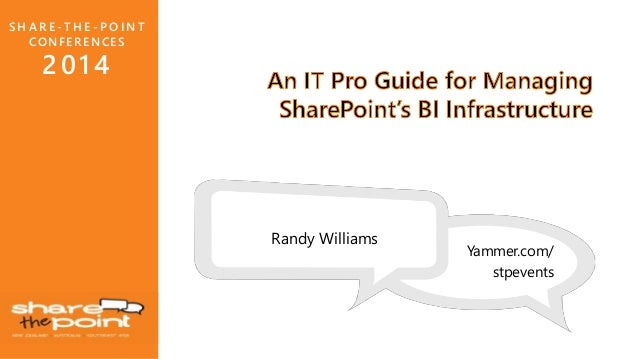 An IT Pro Guide for Managing SharePoint's BI Infrastructure