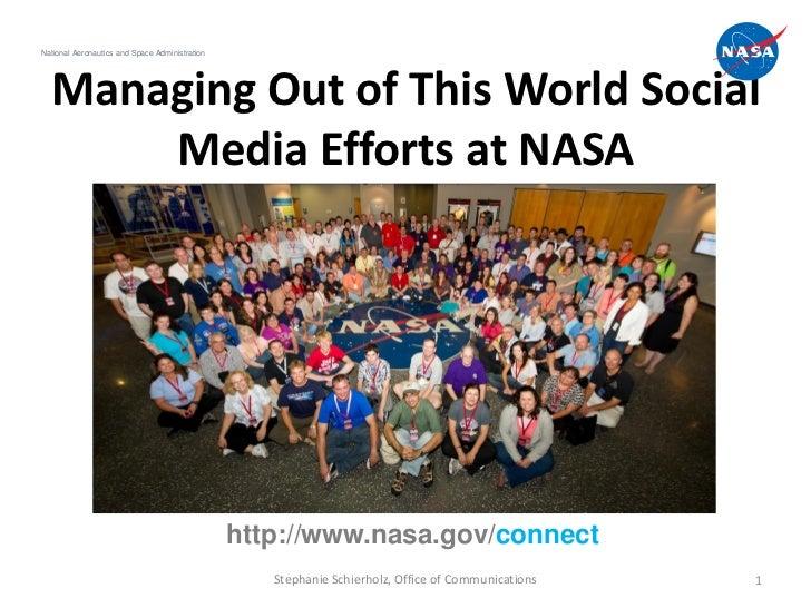 National Aeronautics and Space Administration  Managing Out of This World Social      Media Efforts at NASA               ...