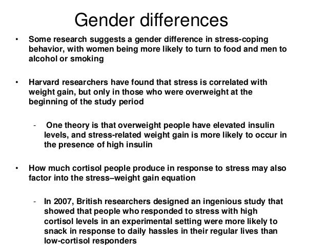 gender differences in levels of stress ☼ definition of stress management gender differences - a form of indigestion noticed as [ why acid reflux ] ™ a burning feeling in the torso, caused.