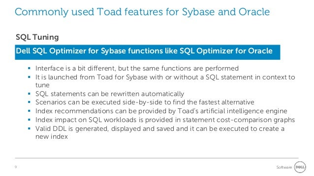 Managing Sap Sybase Ase With Toad A Guide For Oracle Dbas