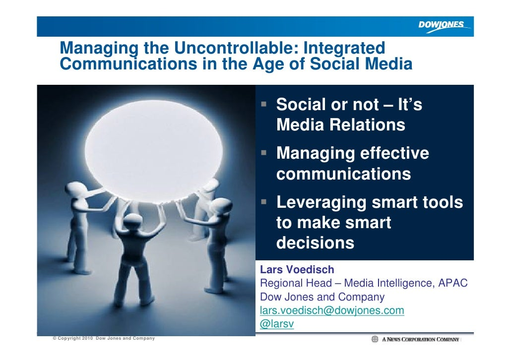 Managing the Uncontrollable: Integrated   Communications in the Age of Social Media                                       ...