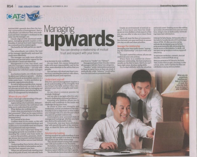 Managing Upwards ST Recruit 19 Oct 2013